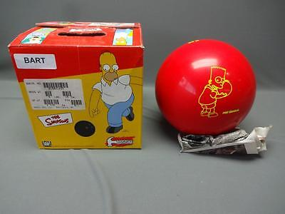 The Simpsons Bart Red Bowling Ball 10 lb Hammer Undrilled 2001 In Box