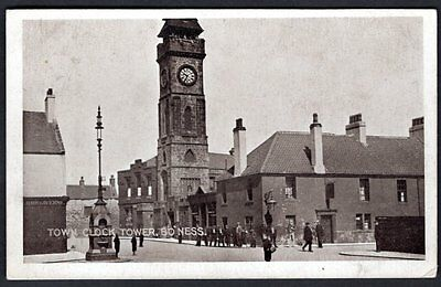Town Clock Tower, Bo'ness, West Lothian. Used. 1918.