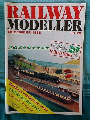 Railway Modeller Mag Dec 1988,Building Lever Frame,Class 47`s,Fisher St,Carlow++