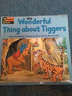 Disneyland Record The Wonderful Thing About Tiggers Vintage 1971 Rumbly In My...