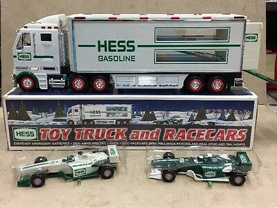 2003 Hess Toy Truck And Race Cars MINT