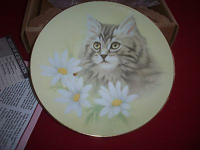 "Cat Plate ""Spring Fever""  Petals & Purrs by Bob Harrison"