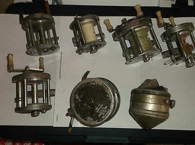 Seven [7]] Used Variety Of Fishing  Reels Repair Or For Parts.