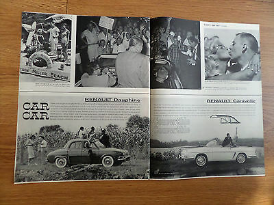1960 Renault Daupine & Caravelle Convertible Ad
