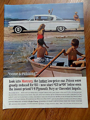 1960 Mercury Monterey Coupe Ad  At the Beach