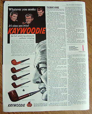 1961 Kaywoodie Pipes Ad Shows 5 Pipes