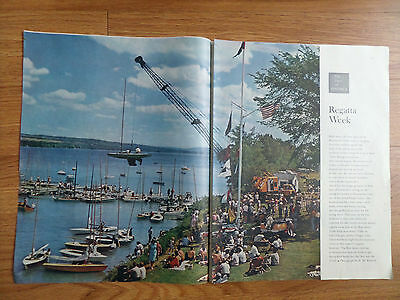 1961 Photo Article Ad Red Jacket Yacht Club Seneca Falls Lake Cayuga New York