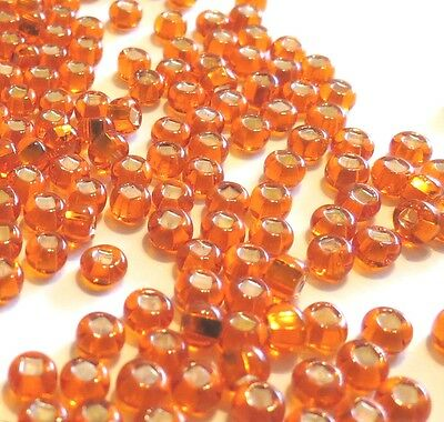 "50) 7/64"" Orange Seed Beads (3.0mm for hook sizes 16, 14, 12) Pumkinhead"