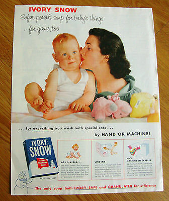 1954 Ivory Snow Laundry Soap Ad