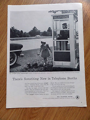 1954 Bell Telephone Ad The New Airlight Outdoor Phone Booth
