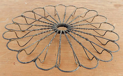 "Antique / Vintage 6"" Round Whimsical Wire Form Trivet - Ships for $4.25"