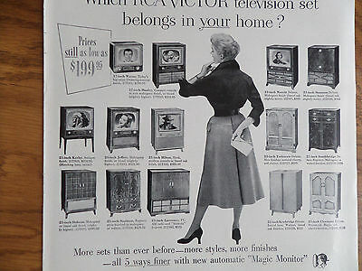 1953 RCA Victor TV Television Ad