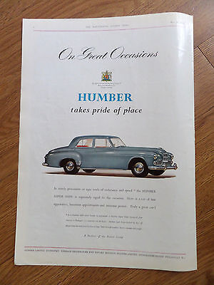 1953 Humber Super Snipe Ad 1953 Huntley & Palmers Biscuits Ad