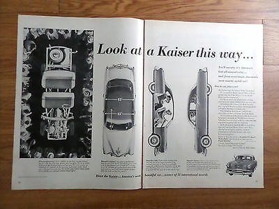 1953 Kaiser Ad Roomier Smoother Smarter Engineering