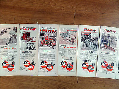 1953 AC  Oil Filters Ad  Lot of 6 Different Ads