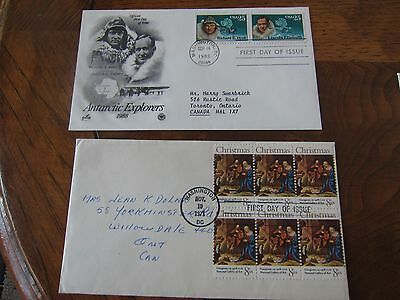 World First day covers- set of 6 FDC and 1 post card - Lot #3