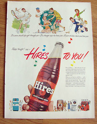 1951 Hires Root Beer Ad   Happy Thoughts
