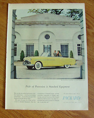 1951 Packard Convertible Ad  Pride of Possession