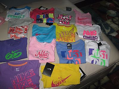 NIKE or Air Jordan Infant or Toddler Girl's T-Shirts, 3mth-5T,Cotton or Blend