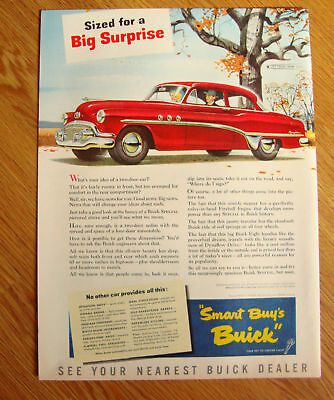 1951 Buick Special Ad  Sized for a Big Surprise