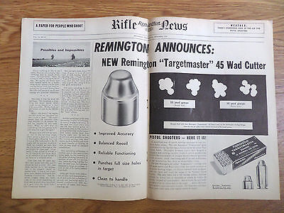 1949 Remington Rifle Gun News Ad Targetmaster 45 Wad Cutter