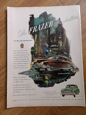 1949 Kaiser Frazer Manhattan Ad The Pride of Willow Run