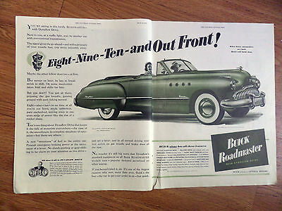 1949 Buick Roadmaster Convertible Coupe Ad 8 9 10 & out Front