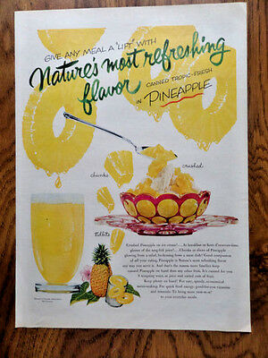 1953 Pineapple Ad  Give any Meal A LIFT