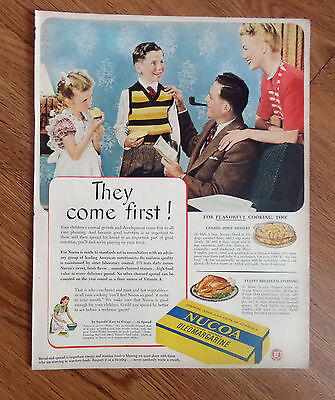1947 Nucoa Oleomargarine Ad Family review the report Card