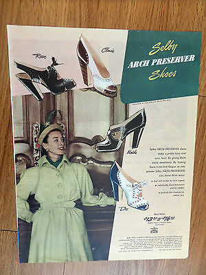 1947 Shelby Arch Preserver Shoes Ad  Fashions
