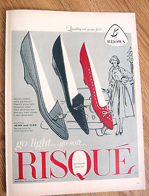 1957 Brown Shoes Ad  RISQUE