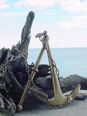 nautical,VINTAGE [1960s] BRASS / BRONZE FOLDING ANCHOR made in U.S.A. OLD STOCK