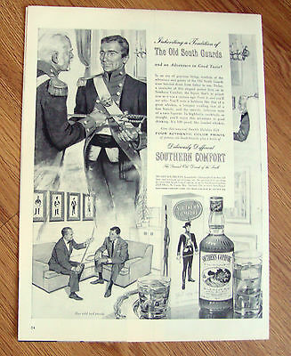 1954  Southern Comfort Liquor Ad  The Old South Guards