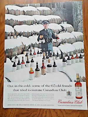 1960 Canadian Club Whiskey Ad 65 Old Frauds Out in Cold