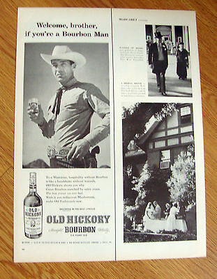 1957 Old Hickory Bourbon Whiskey Ad Welcome Brother Bourbon Man