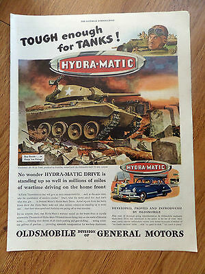 1945 Oldsmobile Ad WW II The M-24 Tank with 75 mm Cannon