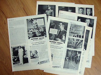 1944 Williams Shaving Cream Ad Lot of 10 Ads Movie Hollywood Stars