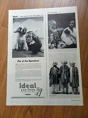 1944 Ideal Dog Food Ad Cocker Spaniel Pet of Squadron