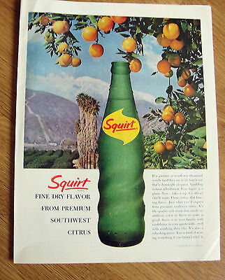 1963 Squirt Soda Ad  From Premium Southwest Cirtrus Theme