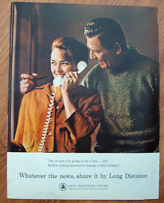 1964 Bell Telephone System Ad  Share by Long Distance