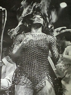 original vintage Tina Turner poster Rolling Stone on stage photo picture 1970's