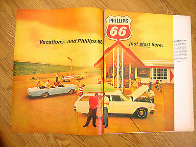 1966  Phillips 66 Oil Ad  Phillips 66 Story  6 Pages