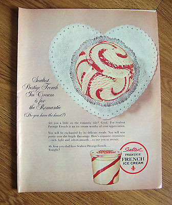 1965 Sealtest Ice Cream Ad Prestige French is for the the Romantic