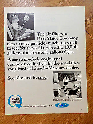 1966 Ford Lincoln Mercury Ad Quality Car Care