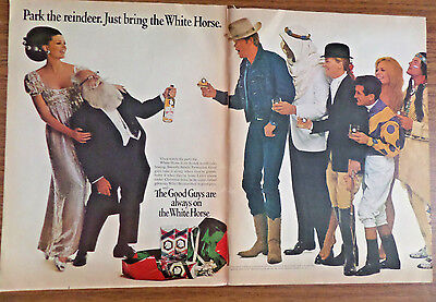 1966 White Horse Whiskey Ad Park the Reindeer