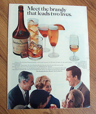 1967 Christian Brothers Brandy that leads two lives Ad