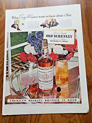 1942 Old Schenley Whiskey Ad  What Every Woman Wants