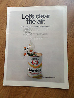 1968 Phillips 66 Oil Ad Lt's Clear the Air