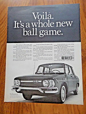 1968 Renault 10 Ad Voila. It's a Whole New Ball Game