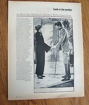 1970 Movie Ad Rock Hudson Julie Andrews  Darling Lili